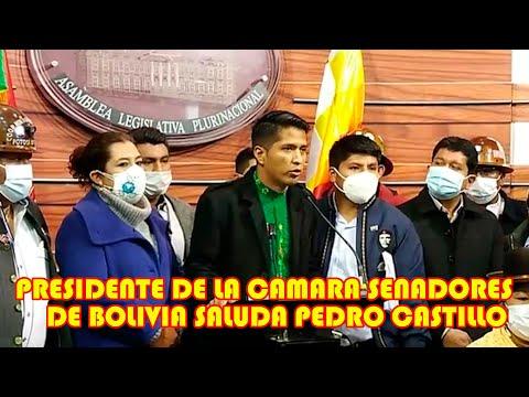 ANDRONICO RODRIGUEZ SALUDA A PEDRO CASTILLO  PRESIDENTE ELECTO DEL PERÚ