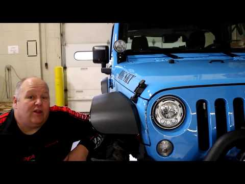 JW Speaker 8700 Headlight Install in 2017 Jeep Wrangler with Factory LED Headlights