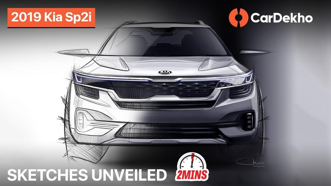 Kia SP2i 2019 SUV India: Design Sketches Unveiled   What To Expect?   CarDekho.com