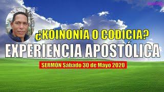 ¿KOINONÍA O CODICÍA - Entendiendo la experiencia apostólica2