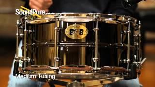 Pork Pie 6.5x14 Big Black Brass Snare Drum - Quick n' Dirty