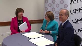 Justicia y UPR firman acuerdo de colaboración para estudio y trabajo en el Registro de la Propiedad