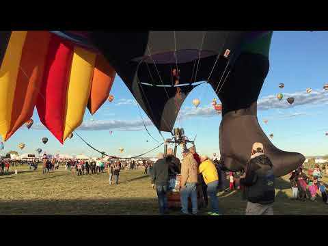 Special shape balloons launch during Balloon Fiesta