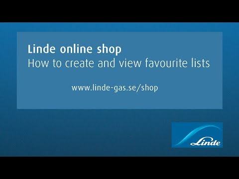 AGA online shop: How to create and view favourite lists
