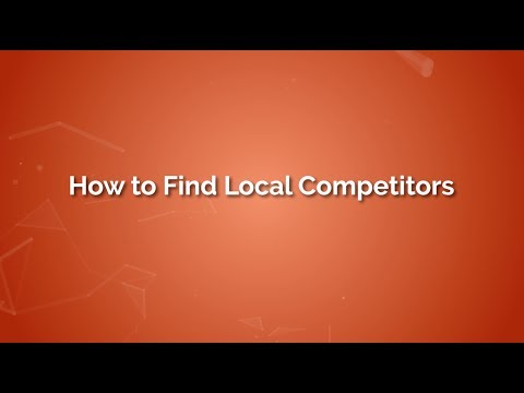How To Find Local Competitors