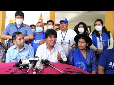 Evo Morales en conferencia de prensa junto a dirigentes nacionales en Tarija | Bolivia