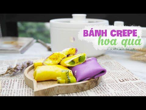 Làm Bánh Creep Hoa Quả Cực Thơm Ngon | #Shorts