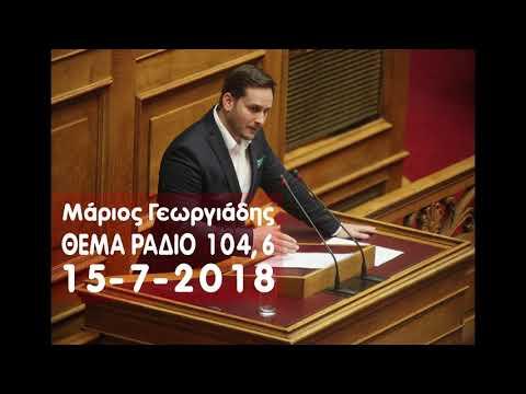 Μ. Γεωργιάδης / Θέμα Ράδιο 104,6 με τον Α. Λιάρο / 15-7-2018