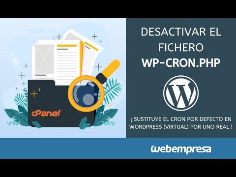 Cómo desactivar cron WordPress - Fichero wp-cron.php