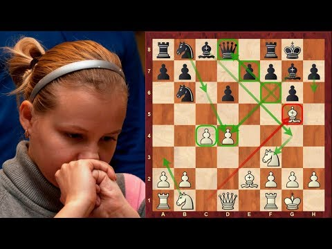 Amazing Chess Game: Valentina Gunina vs Nigel Short : Tradewise Gibraltar (2018) : Alekhine Defense