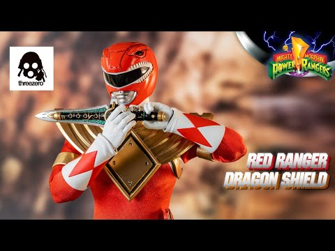ThreeZero (3Z) 1/6 Scale MMPR Red Ranger Dragon Shield Limited Edition Figure Preview