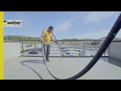Avjämning och plattsättning på balkong med weber outdoor SL