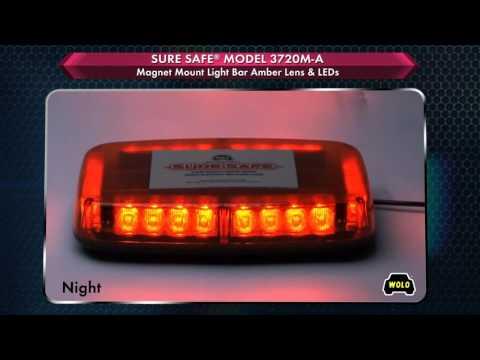 WOLO Sure Safe Mini LED Lightbar - Amber, 24 LEDs, 10 1/2in.L, Model# 3720M-A