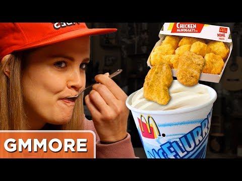Chicken Nugget McFlurry Taste Test