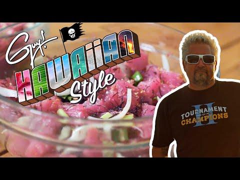 Guy Fieri and Hunter Go Fishing for Dinner | Guy! Hawaiian Style | Food Network