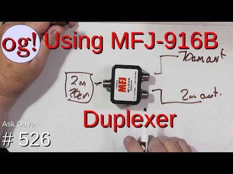 Using MFJ-916B Duplexer (#526)