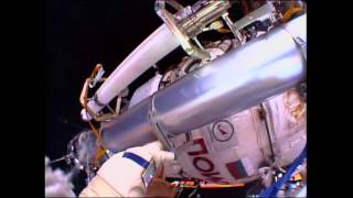 Russian Cosmonauts Conduct Spacewalk Outside the International Space Station