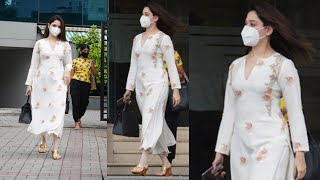 Actress Tamannaah Bhatia Snapped First Time Post 14 Days Quarantine In Hyderabad - TFPC