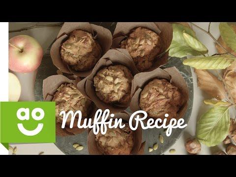 How to Make Apple, Pumpkin Seed & Peanut Butter Muffins   ao.com