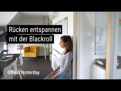 Sportliche Mittagspause - Rücken entspannen mit der Blackroll