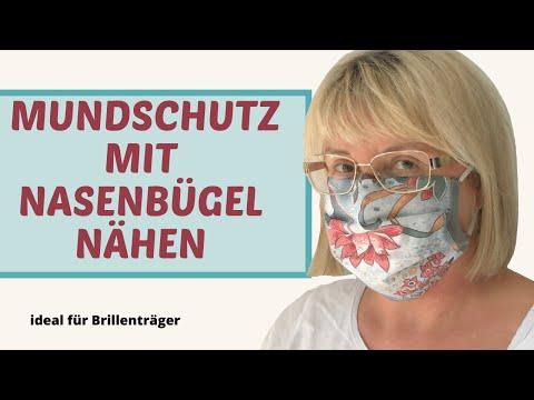 Gesichtsmaske nähen  Mundmaske selber machen DIY – perfekt für Brillenträger