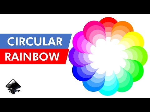 Create a CIRCULAR RAINBOW in INKSCAPE – Easy Tutorial for Beginners