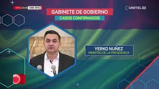 Estos son los casos positivos de Covid-19 en el gabinete de Gobierno en Bolivia