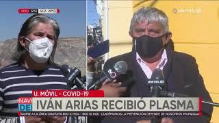 Ministro Arias recibe transfusión de plasma hiperinmune para tratar el Covid-19