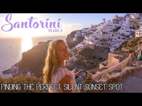 The PERFECT SUNSET SPOT in OIA, SANTORINI – Vlog 3