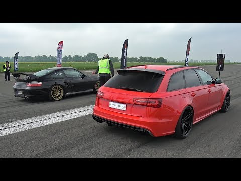 Audi RS6 Avant Milltek vs Porsche 996 Turbo