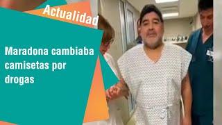 Maradona cambiaba camisetas por drogas