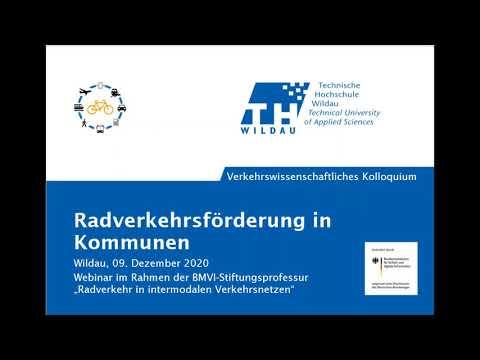 Webinar-Aufzeichnung der TH Wildau: Radverkehrsförderung in Kommunen
