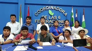 Bolivia: Las Seis Federaciones del Trópico se declaran en emergencia y Emiten pronunciamiento...