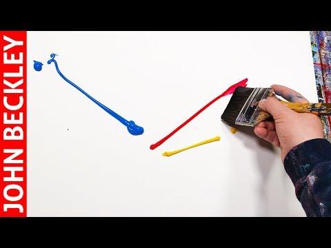 Peinture Abstraite Démonstration à l'Acrylique | Horizon