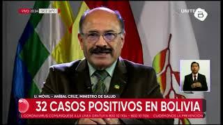 Suben a 32 los casos de coronavirus en Bolivia, los nuevos contagios son en Santa Cruz y La Paz