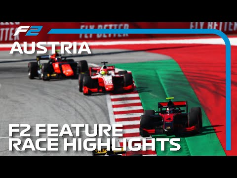 F2 Feature Race Highlights | 2020 Austrian Grand Prix
