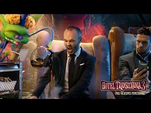 PARTIDO AMISTOSO:  Pandilla de Hotel Transilvania 3  Vs. Iniesta, Asensio y Koke