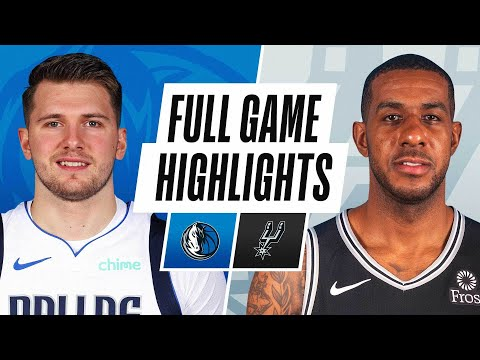 MAVERICKS at SPURS | FULL GAME HIGHLIGHTS | January 22, 2021