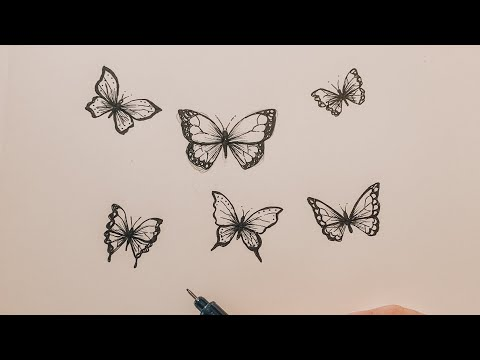 The TRICK to draw a butterfly