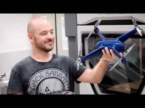 Heat Resistant Quadcopter 3D Printed with Embedded Electronics
