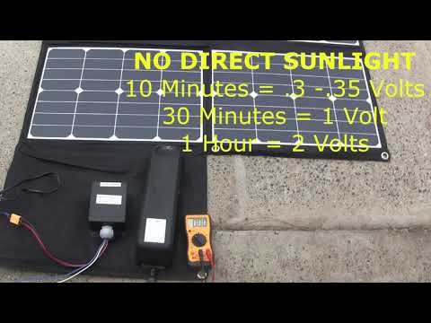 TESTING EBIKE 300W SOLAR PANELS IN SUNNY AND CLOUDY DAYS