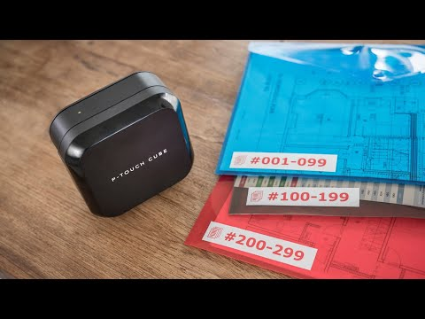 Tour de producto PT-P710BT Cube. Rotuladora electrónica profesional con USB y Bluetooth