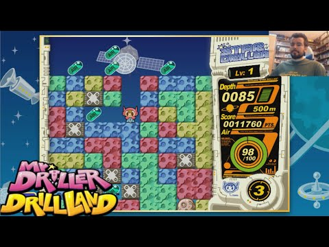 MR. DRILLER: Drill Land (Switch / GameCube) - Gameplay en Español