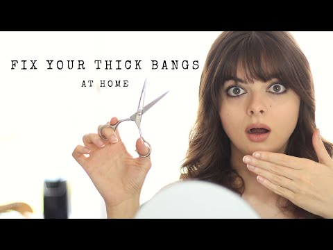 Cut Your Bangs Too Thick? Here's How To Fix Them