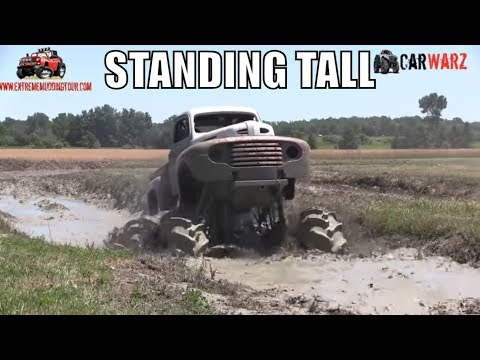 Giant Old Truck Digs Deep At Red Barn Customs Mud Bog 2018