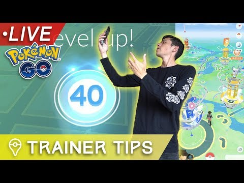 connectYoutube - HITTING LEVEL 40 LIVE in Pokémon GO! (WARNING: LAGGY)