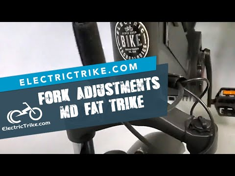 Electric Trike | Fork Adjustment Explained on the Mid-Drive Fat Trike