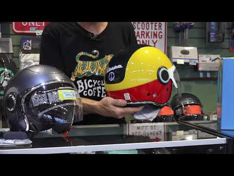 Official Vespa Helmets available at Scooterwest.com!