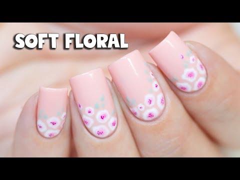 Soft Floral Nail Art | Madam Glam Gel Polish