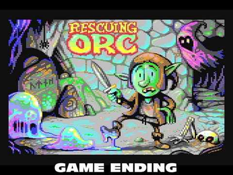 Commodore 64: Rescuing Orc game ending by Juan Martinez
